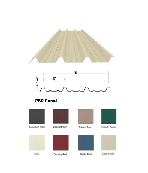 PBR Roofing Sheet - Color