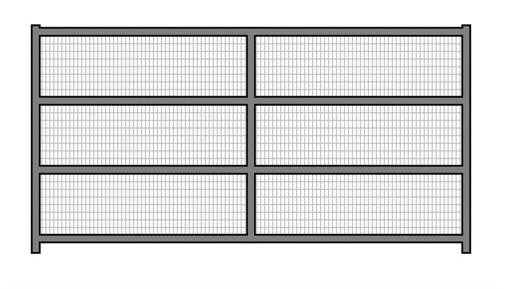 12'W x 6'H Corral Welded Wire Panel 4-Rail 1-5/8