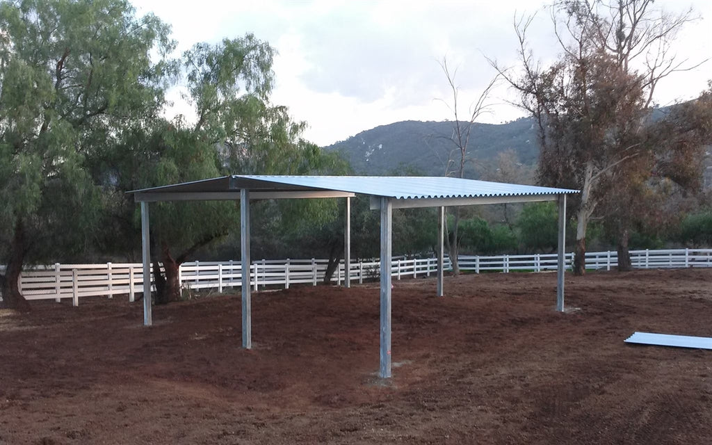 24'D x 24'W Free Standing Gable Cover