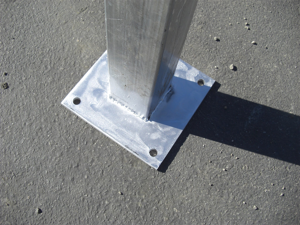 "15'H 4""x4"" Post with 10""x10"" Base Plate"