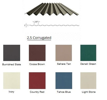 2.5 Corrugated (COLOR)   CALL TO ORDER