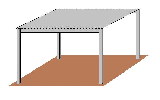 12'D x 12'W Free Standing Shelter