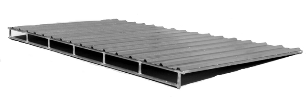 8'D x 16'L Clamp-On Cover - Frame & Roofing Sheets ONLY