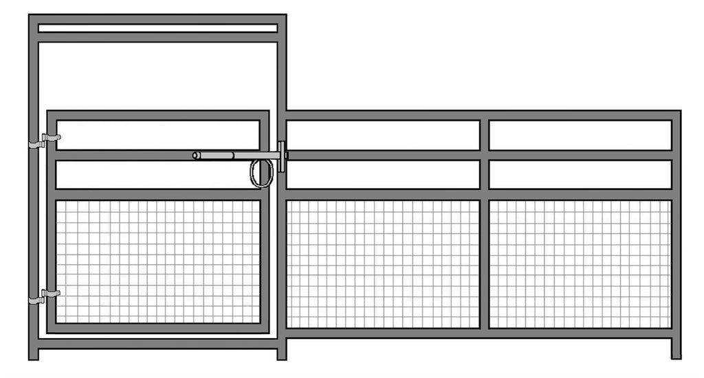 16'W x 5'H 4-Rail 1-5/8 Mare and Foal Welded Wire Gate Panel