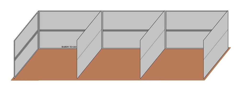 12'D x 12'W Wind Break Solid Wall 3-Run Kit