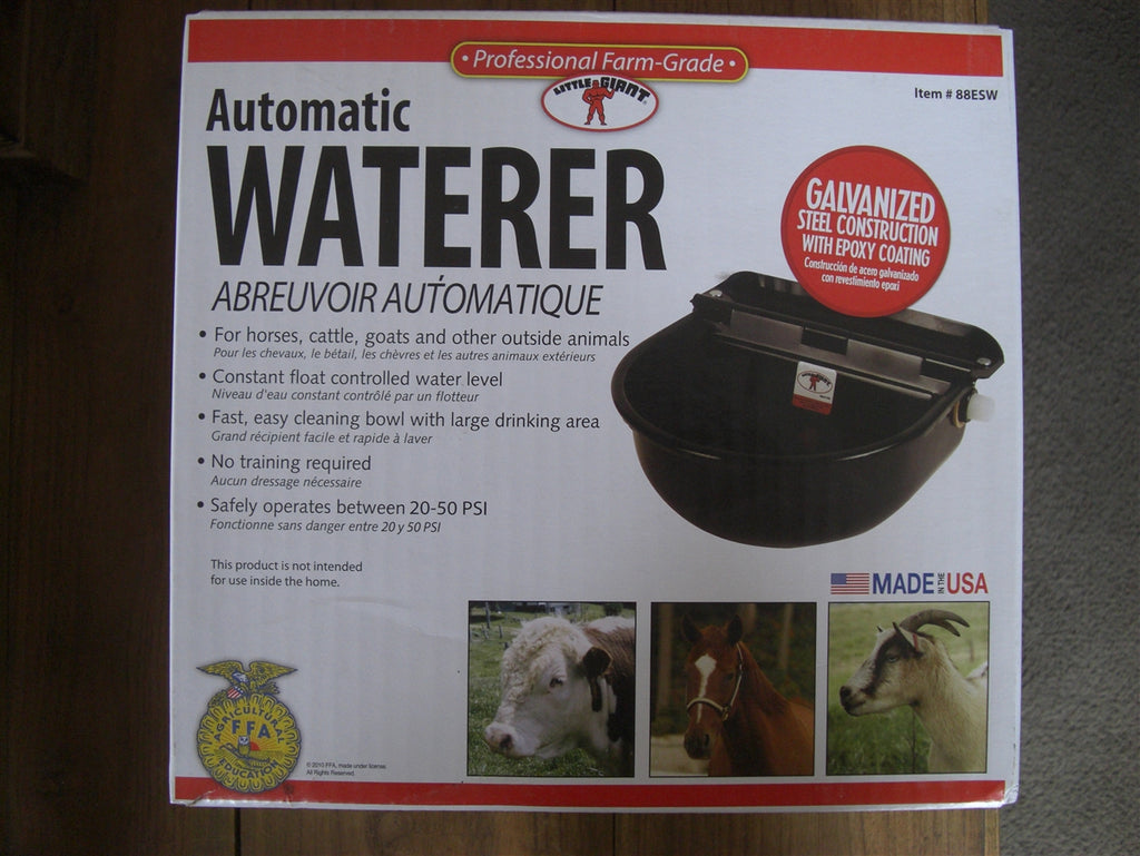 Automatic Waterer Galvanized Black