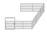 16'W x 24'D Welded Wire Add-On Corral 4-Rail 1-5/8