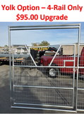 24'W x 6'H Welded Wire Corral Panel w/ Gate 4-Rail 1-5/8