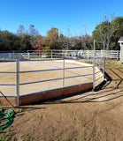 50' Round Pen 4-Rail 1-5/8 w/ Wood Base