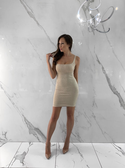 Alaya Dress, Women's Champagne Dresses
