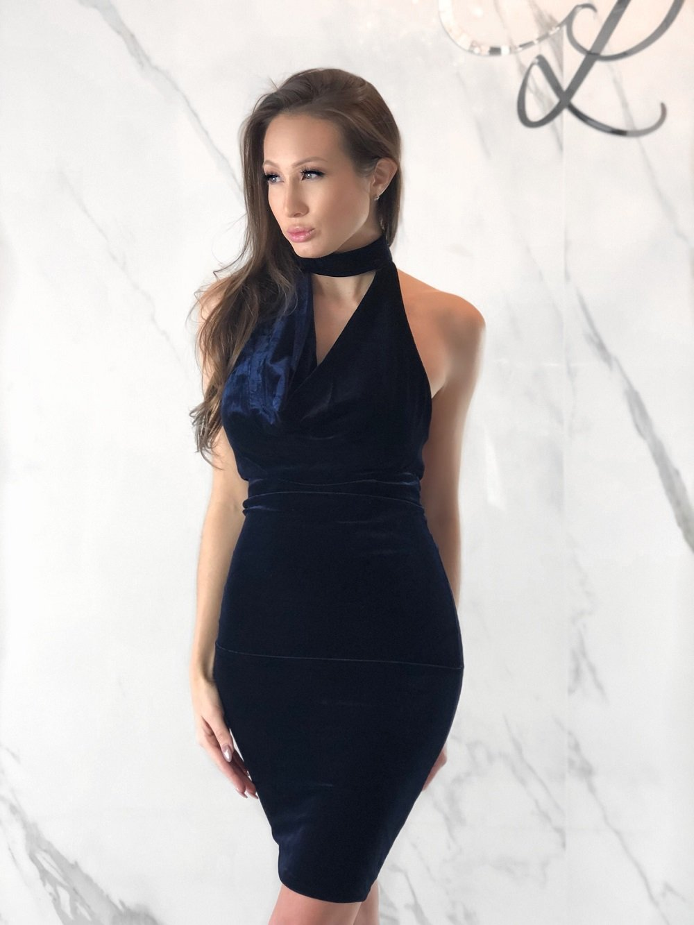 Ashlyn Dress, Women's Navy Dresses