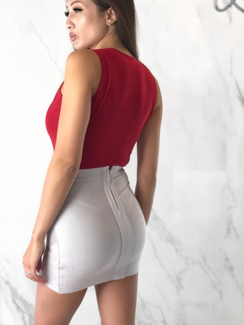 Brianna Red Bodysuit, Women's Red Bodysuits