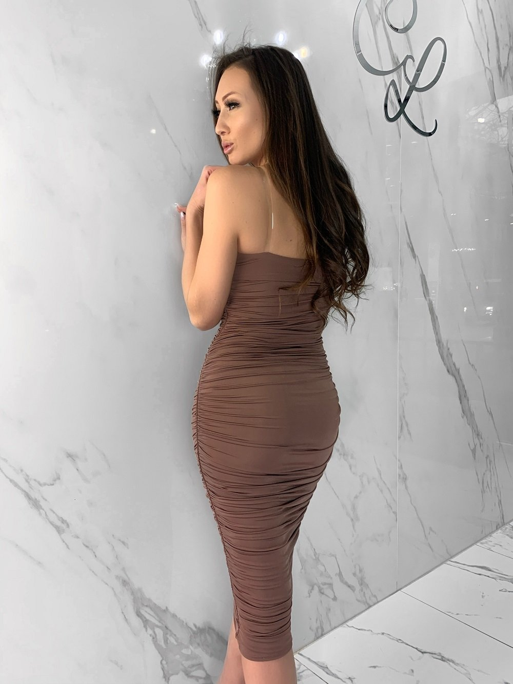 Cardi Dress, Women's Mocha Dresses