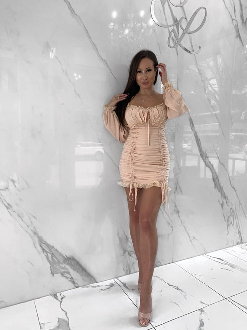 Ciara Dress, Women's Beige Dresses
