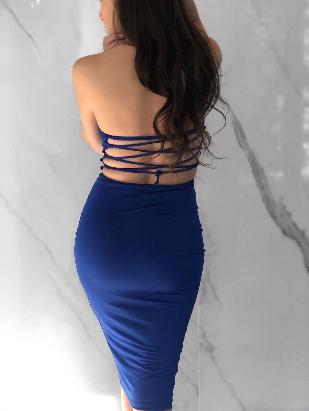Ciel Dress, Women's Royal Blue Dresses
