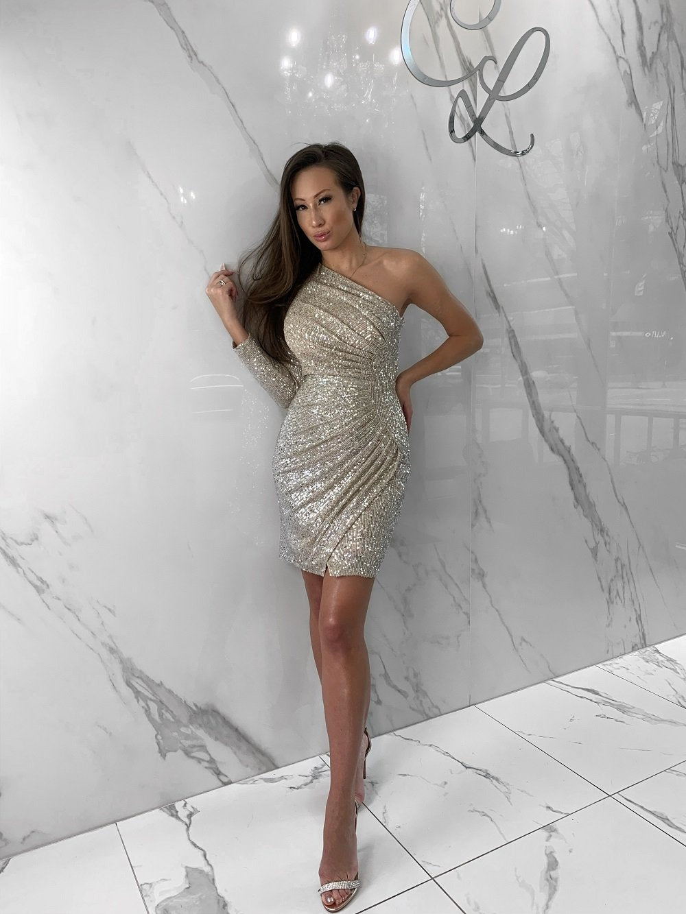 Corrine Dress, Women's Champagne Dresses