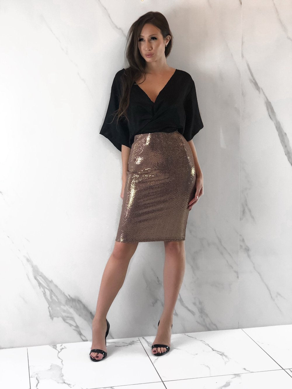 Cuenco Skirt, Women's Rose Gold Skirts