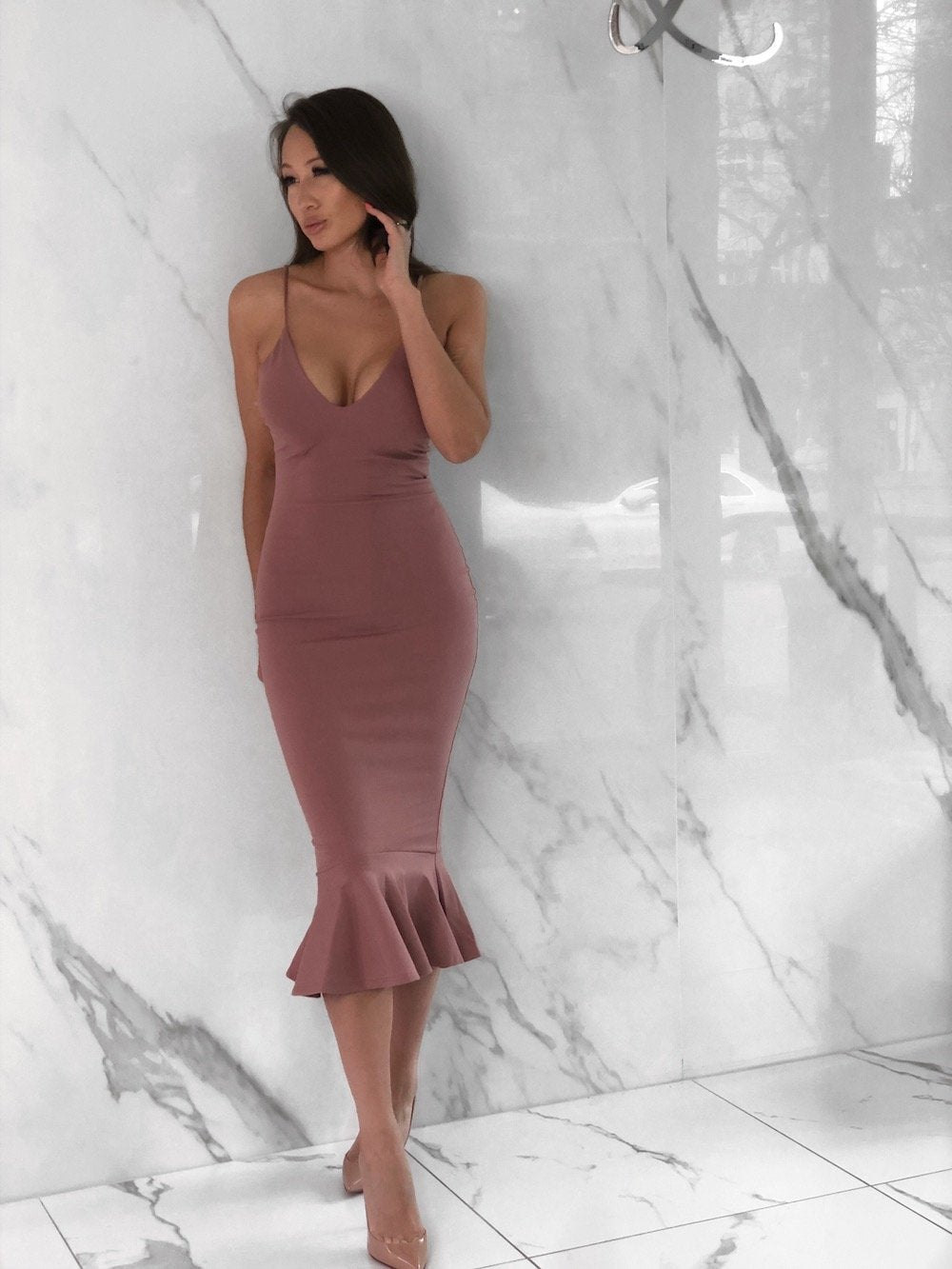 Darla Dress, Women's Mauve Dresses
