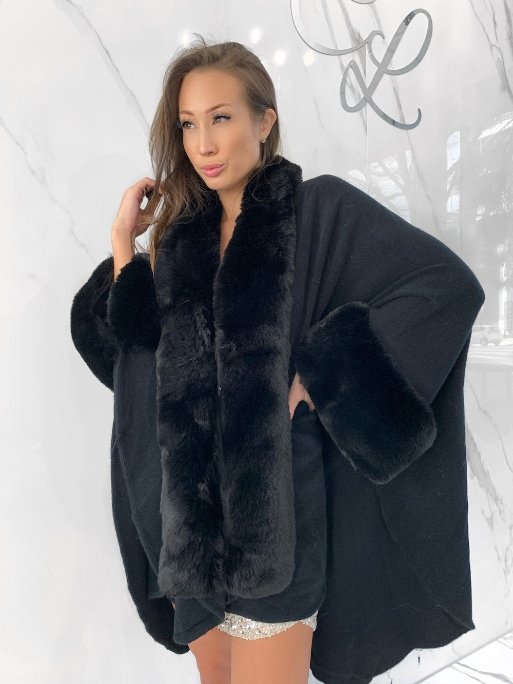 Dova Coat, Women's Black Coats