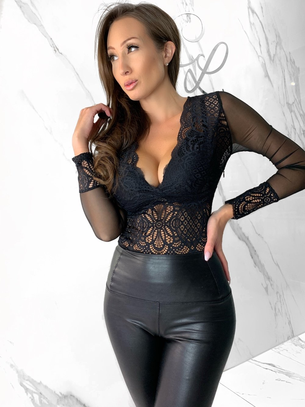 Eden Bodysuit, Women's Black Bodysuits