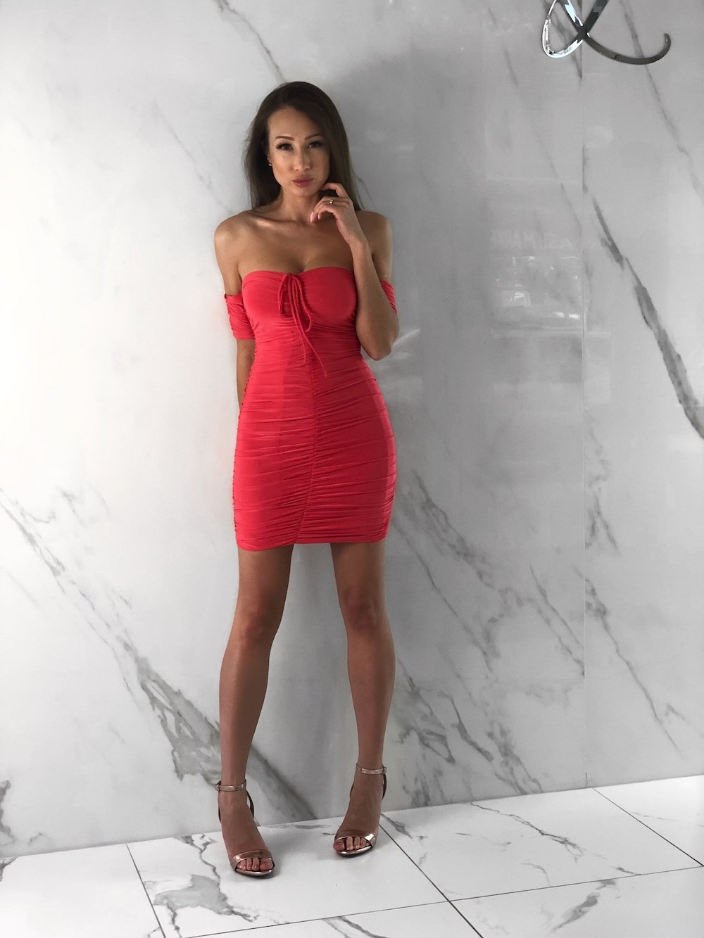 Gillian Dress, Women's Coral Dresses