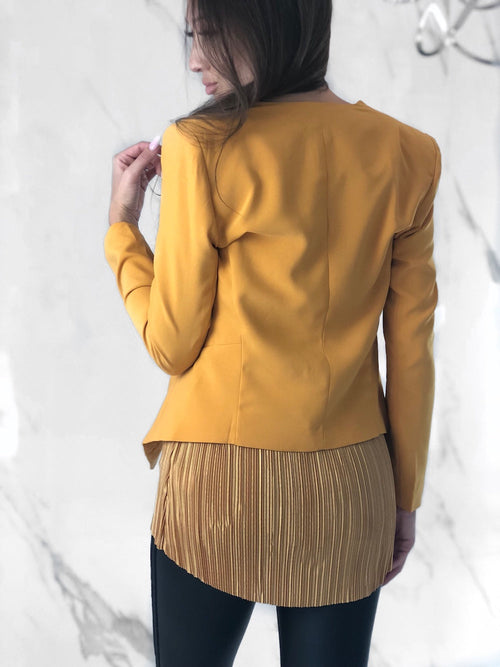 Gitu Coat, Women's Mustard Coats