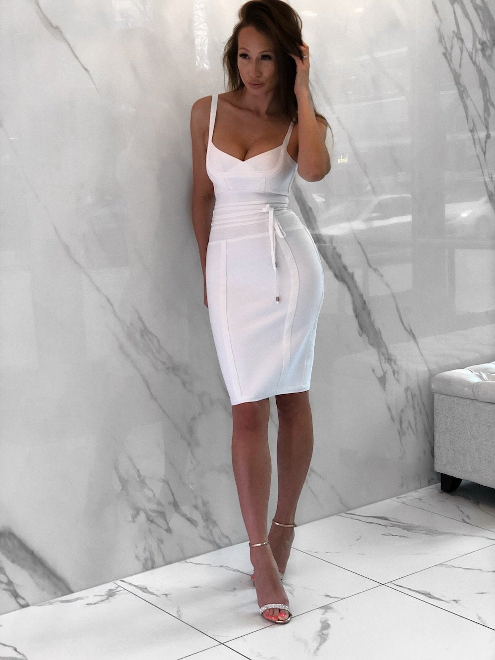 Jabari Dress, Women's White Dresses