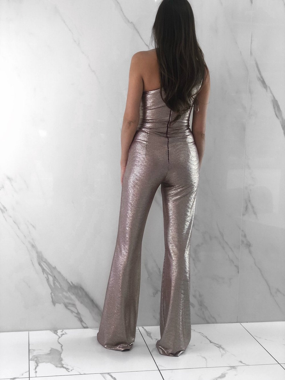 Jalissa Jumpsuit, Women's Rose Gold Jumpsuits