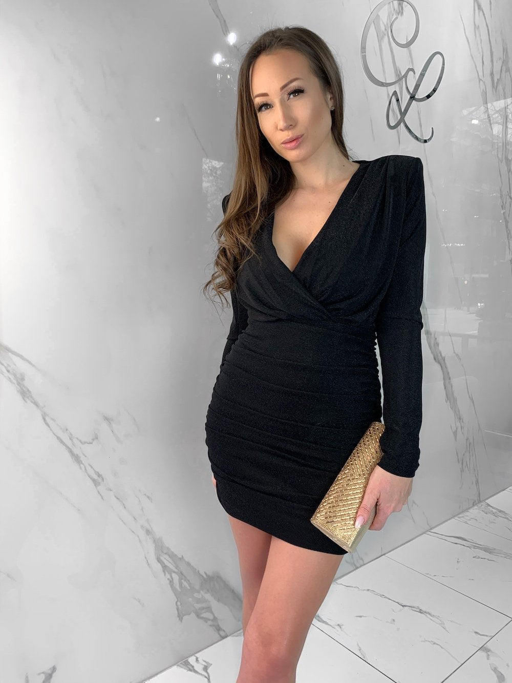 Luciana Dress, Women's Black Dresses