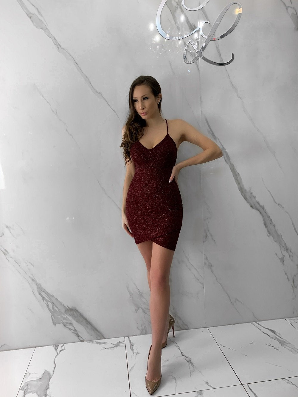 Lynn Dress, Women's Burgundy Dresses