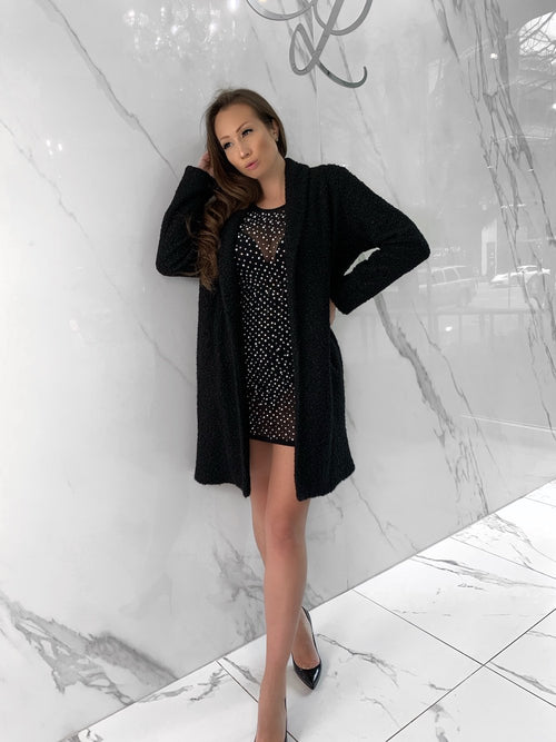 Madden Coat, Women's Black Coats, Trench coat, Long sleeve