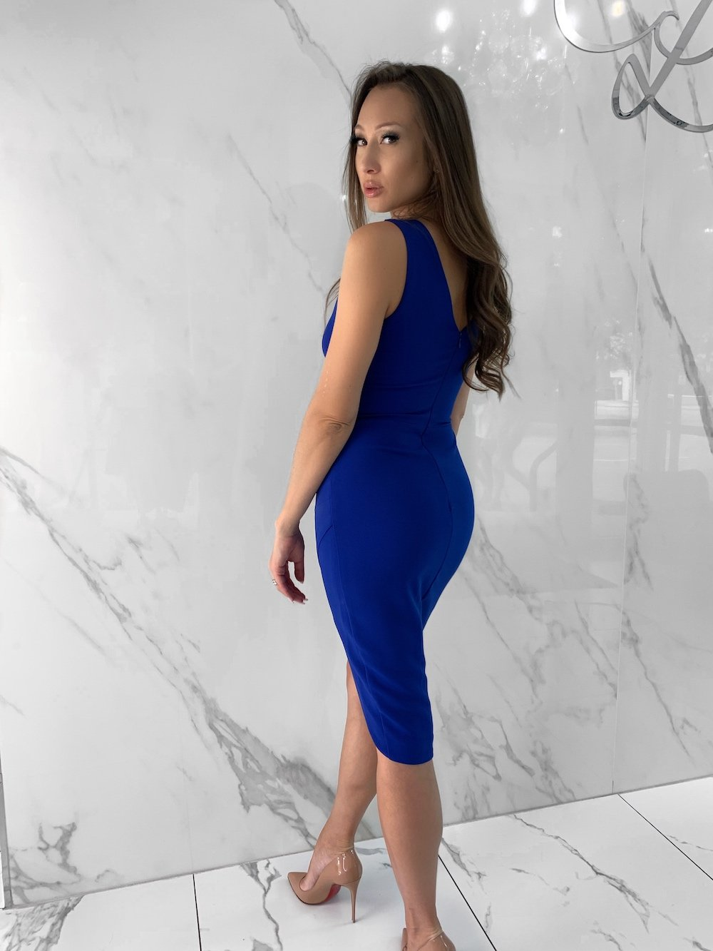 Maddy Dress, Women's Royal Blue Dresses