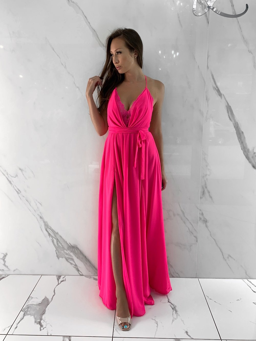 Mase Dress, Women's Fuschia Dresses