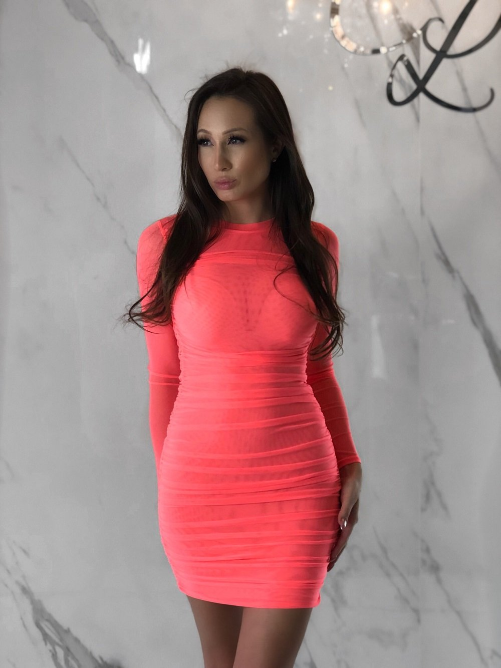 Melody Dress, Women's Orange Dresses