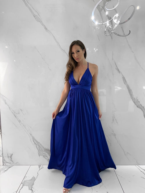 Messa Dress, Women's Royal Blue Dresses