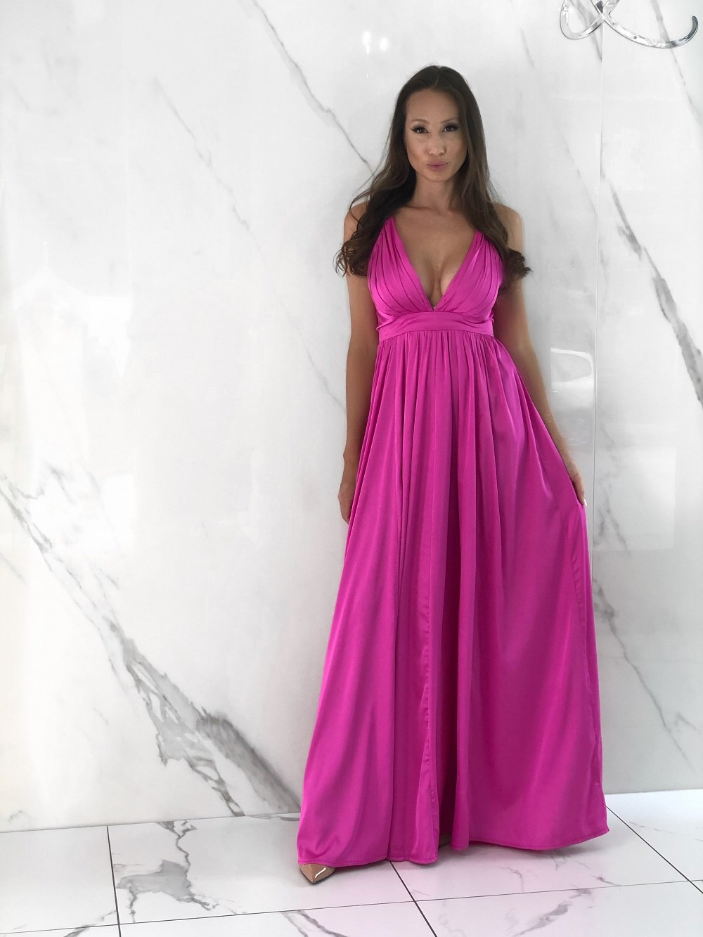 Messa Dress, Women's Magenta Dresses