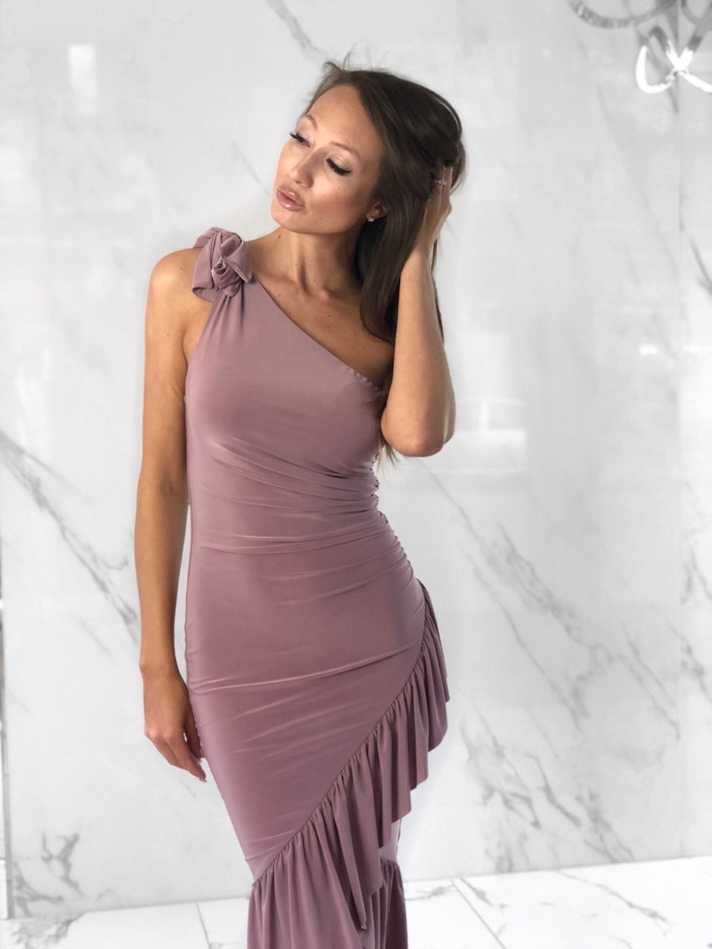 Neelam Mauve Dress, Women's Mauve Dresses
