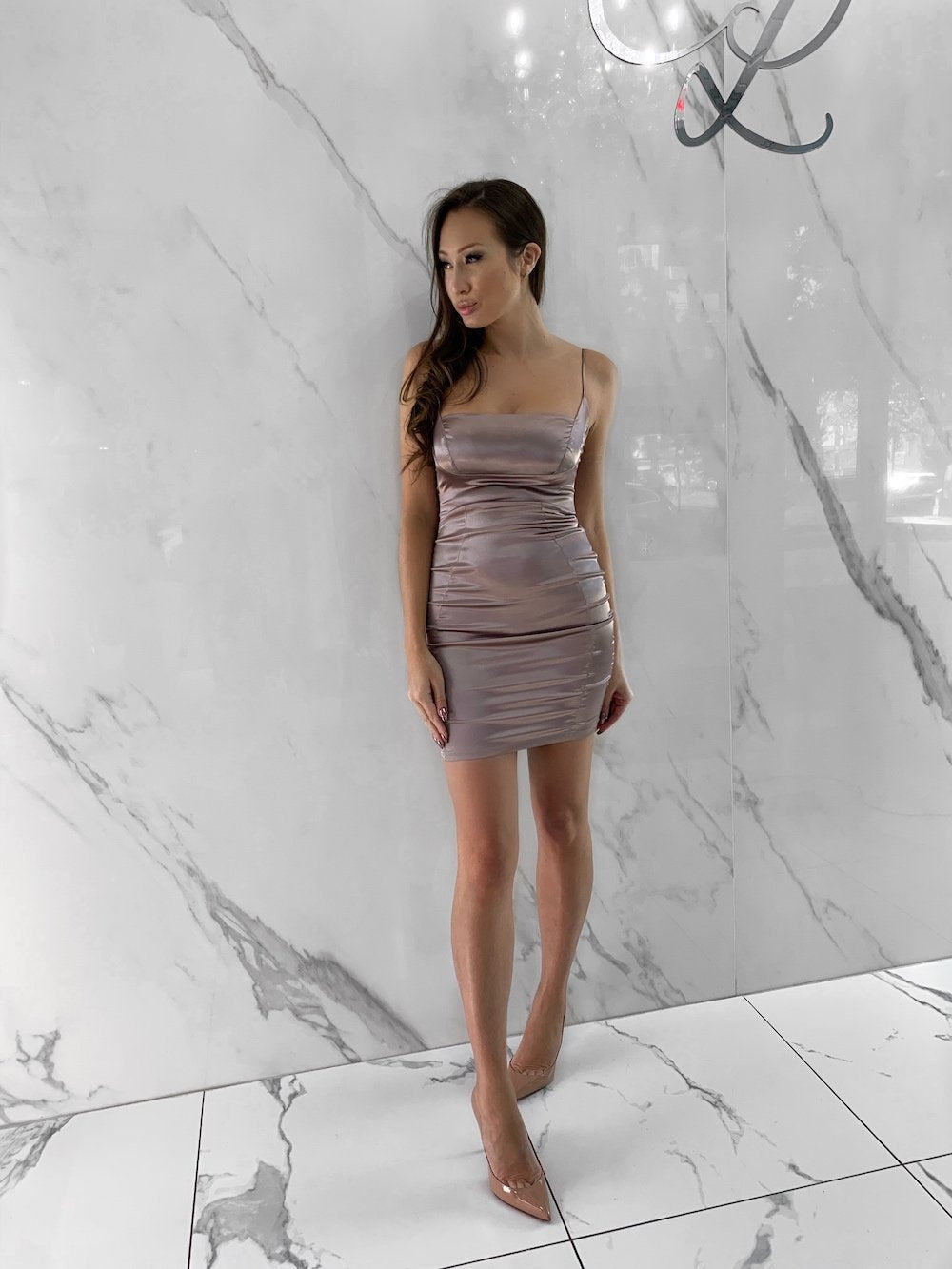 Newsha Dress, Women's Mauve Dresses