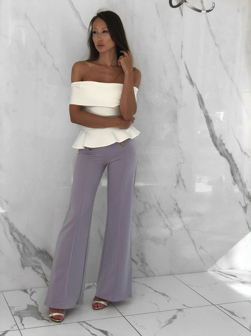 Ninia Pants, Women's Lavender Pants