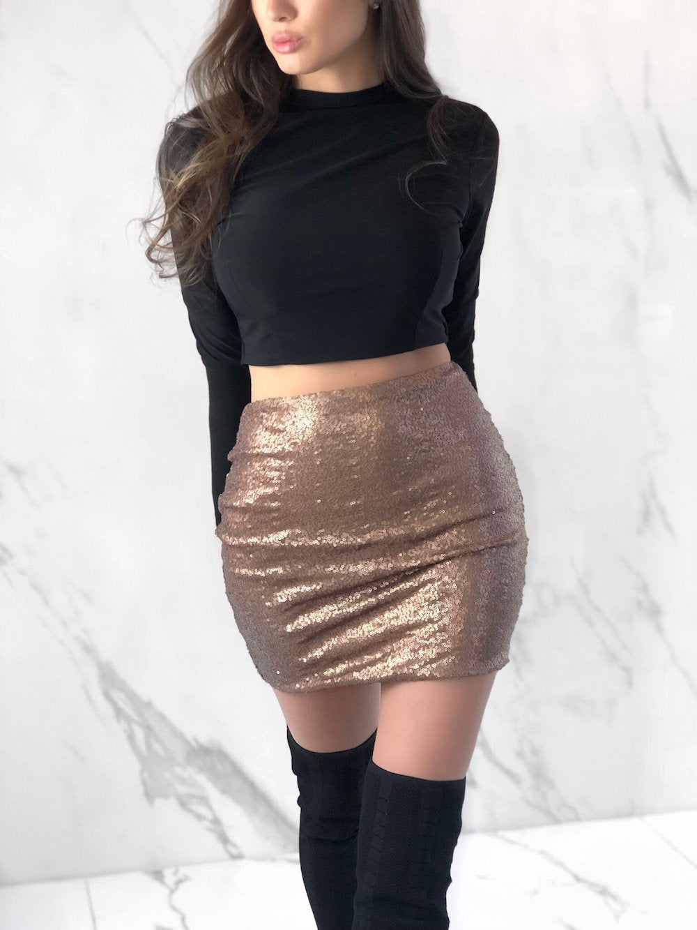 Palazzo Skirt, Women's Bronze Skirts
