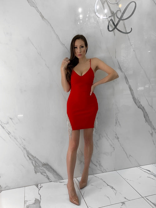 Pam Dress, Women's Red Dresses