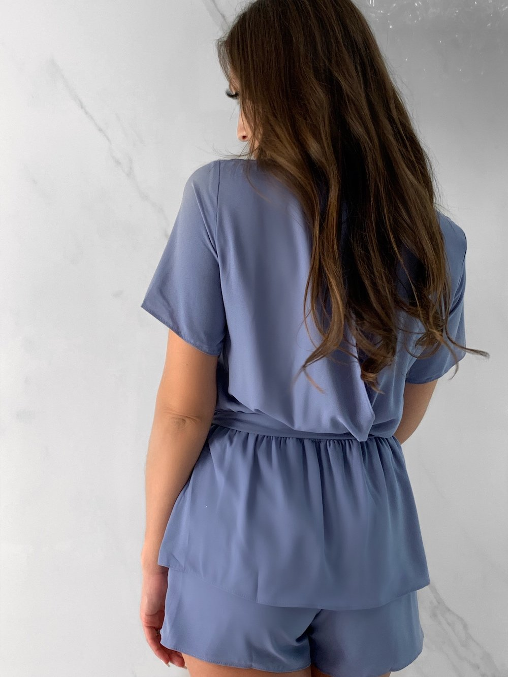 Pelia Onesie, Women's Blue Jumpsuits
