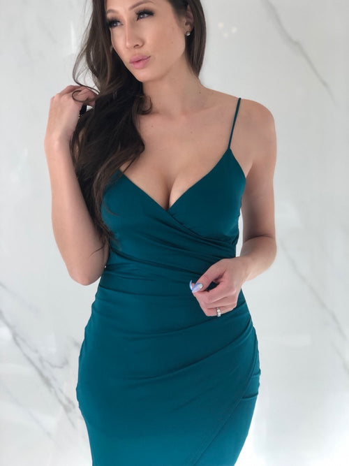 Selena Dress, Women's Teal Dresses