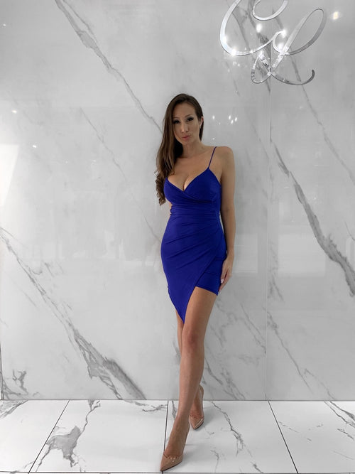 Selena Dress, Women's Royal Blue Dresses