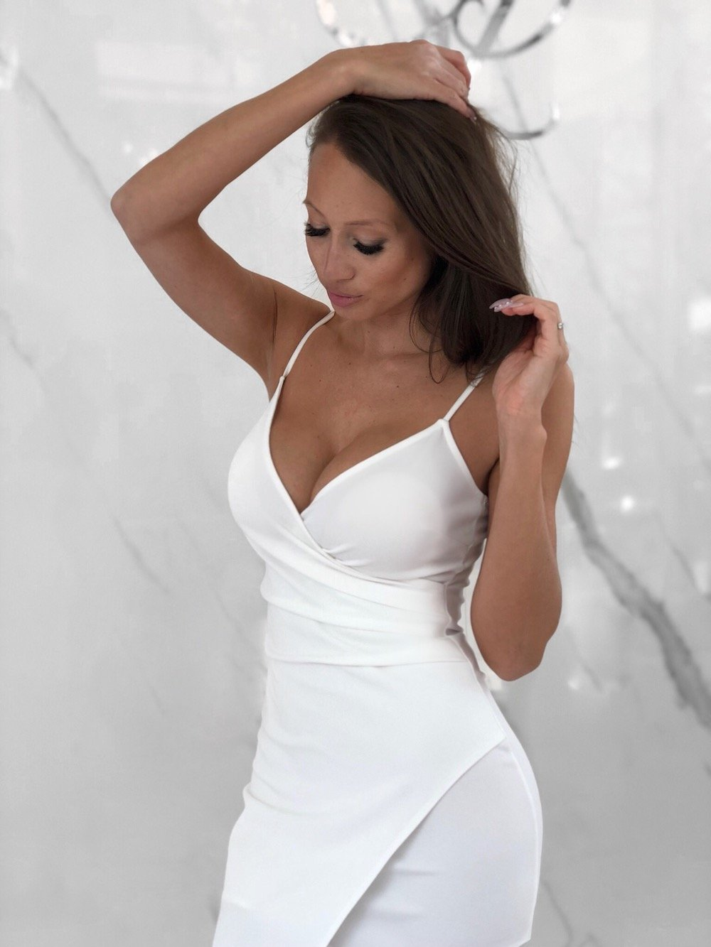 Selena Dress, Women's White Dresses
