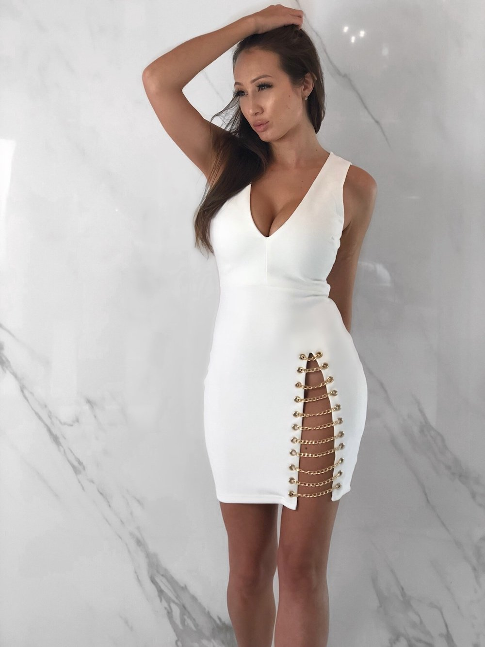 Stormi Dress, Women's White Dresses