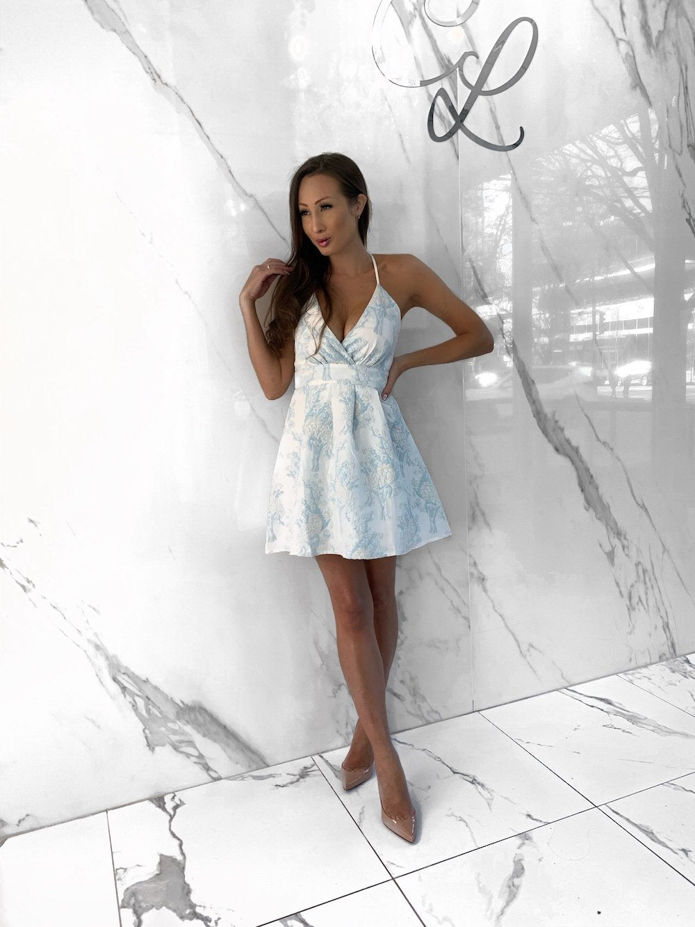 Suki Dress, Women's Sky Blue Dresses