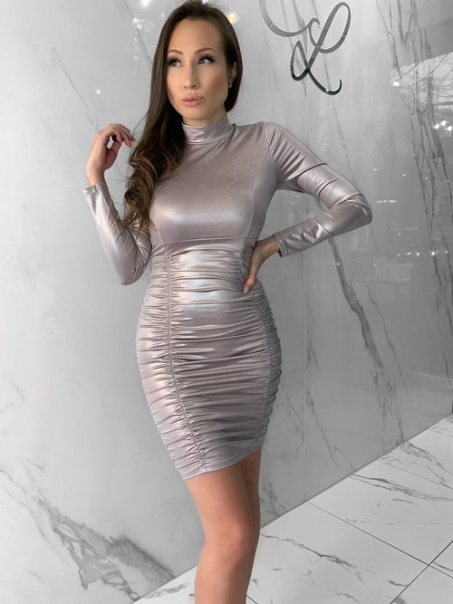Tamzin Dress, Women's Taupe Dresses