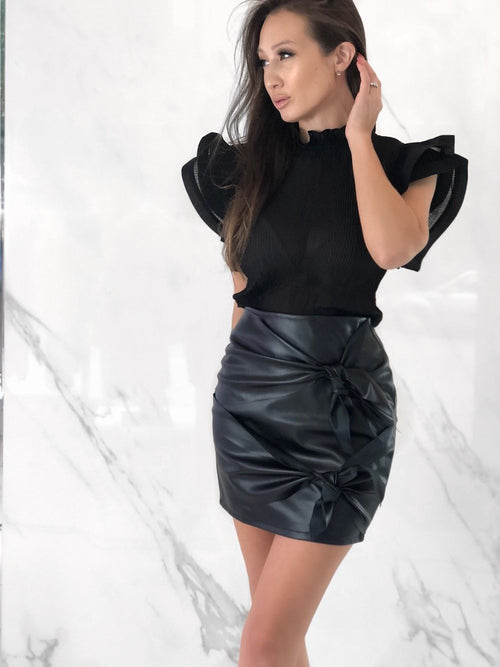 Teigen Skirt, Women's Black Skirts