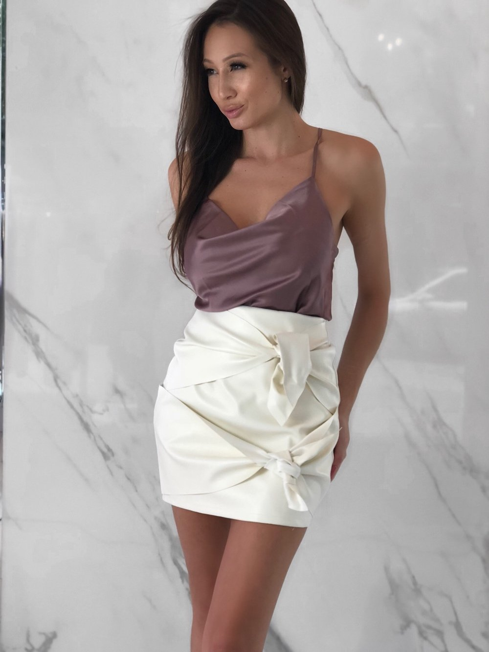 Teigen Skirt, Women's White Skirts